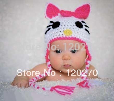 Crochet Hello Kitty Child Hat Only New Crochet Patterns