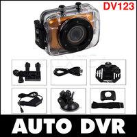 Fast Shipping DV123 HD 720P Mini DV DVR Waterproof Outdoor Sports Helmet Camera Motorcycle Camera