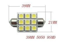 10pcs/lot  Wholesale/retail Festoon led 39mm 41mm  9 SMD 5050 3chips Dome Lights Car LED light lamp DC12V