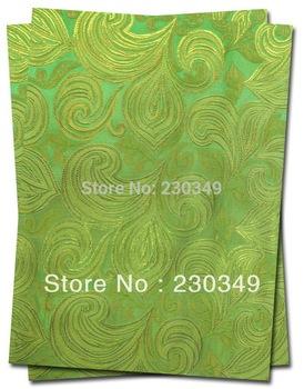 FREE SHIPPING!!!Newest style African headtie,Head Gear, Sego Gele & Ipele,Head Tie & Wrapper, 2pcs/set, GREEN 0071