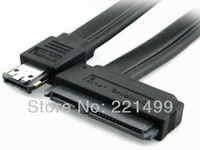 [FREE SHIPPING/EPACKET!] High Quality ESATA+USB combo DUAL Power ESATA to 2.5 /3.5 SATA 22P/ 7+15pin HDD Female Cable