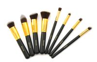 8pcs/set Gold Professional Foundation blush Liquid brush Kabuki Makeup Brush Set Cosmetics Tool ZH117 Alishow
