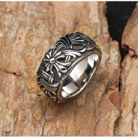 Quality Gothic Woven Intertwine 316L Rings For Men,2013 New Fashion Jewellery Items,Free Shipping
