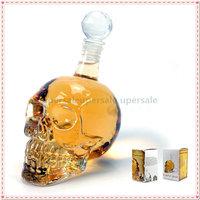 Crystal Skull Head Vodka Whiskey Shot Glass Bottle Drinking Home Bar Decanter  free shipping  new