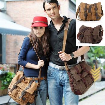 New Fashion Men's Canvas Shoulder Bag Messenger Bag 2 Colors 16871