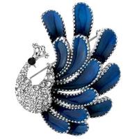 Free shipping (Min order $10) Fashion peacock  brooch female brooch corsage cape buckle silk scarf brooch crystal pin