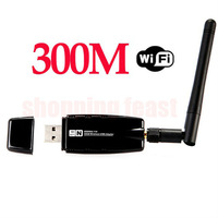 300M Wireless USB WiFi Wi Fi Wi-Fi Adapter With External Antenna