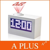 EMS Freeshipping 30Pcs/Lot fashion led projection clocks electronic calendar clock music alarm clock table colock A PLUS