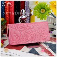 Free shipping  2013 New  Hot  Sell Women's Long Zipper Wallet hand bag card package for women Wallets For Lady  Money Clips