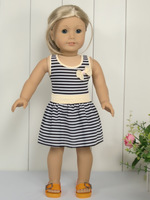 Doll Clothes Outfit Striped Party Dress fit 18'' American Girl 1021e