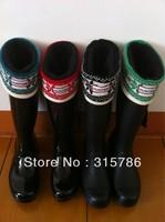 free shipping,rain boots socks cotton women socks,fashion and warmly,woman socks,woman rainboots socks