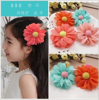 Min order is $10 freeshipping(mix order) kids Baby accessories children Girls jewelry baby headwear Hair clips  flower Rkw60