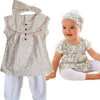 children clothing set Children's Clothing Children's Sets flower pattern kids clothes baby girl sets baby girl clothes 02