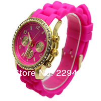 5 Pcs/Lot Famous Brand Fashio Silicone Jelly watch for Men and Women ladies  Watch with Origin Logo