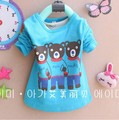 4pcs/lot 3-8 years old, Autumn 2013 new children's t-shirts, long-sleeved t-shirt kids cartoon, cotton quality Size 100-130