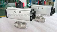 1000 wog cf8m thread 1/2'' pneumatic 3 way ball valve