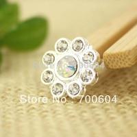 50pcs/lot, High Quality Fashion Imitation Pearl  Rhinestone Metal Alloy Wedding Craft Buttons, Wholesale Free Shipping