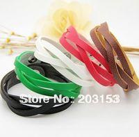 Min.order is $15 (mix order),fashion women PU leather bracelet ,men's bangle,cheap jewelry,hot sale,B2013-7/10 Free shipping