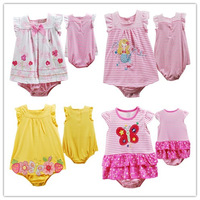 Freeshipping,Retail, 2013New,Carters Baby Girls Flowers Romper Dress, Baby Sleeveless Summer Romper ,(IN STOCK)