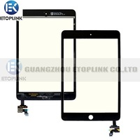 100% Guarantee Test Complete For Ipad Mini Touch Digitizer Screen + IC Flex Chip + Home Button Flex Black & White