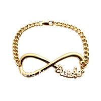 Fashion New Infinity Belieber Link Chain Bracelet