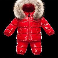Retail 2014 new winter fashion fur collar high-quality children's leisure suit jacket warm paragraph children clothing set