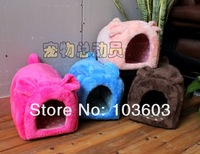 Arctic Velvet Series 2014 Summer New mini cute bunny shape plush nest, pet litte, kennel house, 4 color, size S/L Free Shipping