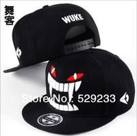 Free shipping (1 pieces/lot) 100% cotton new hip-hop baseball cap flat-brimmed hat cap hat skateboard snapback hat truck cap