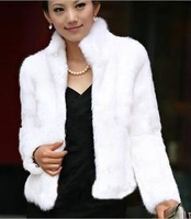 2013 new design ladies women's real natural rabbit Fur coat outerwear coats female winter short fur vest overcoat women clothing
