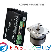 Leadshine 24VDC 25W 11.3ozin 0.08NM 3000RPM Brushless DC Servo Motor Drive kits BLM57025-1000+ACS306