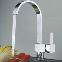 Hot Sale Brass Chrome Single Hole Single handle Water Taps Kitchen Faucet Sink Mixer Tap Wholesale Free Shipping