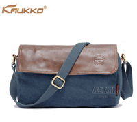 Kaukko brand 4 colors canvas&leather cover small messenger bag women FJ15