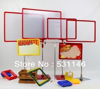 Free Shipping  POP Display Advertising support of stainless steel chassis Price Frame POP Poster Frame Promotional label Support