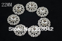 Trail order 22mm Gems Crystal Button Spark Rhinestone Buttons Decoration Accessory 24pcs/lot