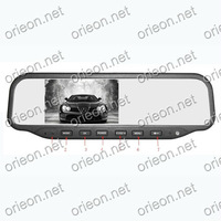 "Free shipping 4.3"" Dual Lens Car Rear View Mirror Monitor with Driving Video Recorder with 4G TF card and rear camera (OE435MR)"