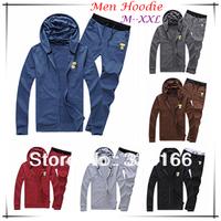 New Arrival Men/Boys Hoodies Set Blue/Coffee/Grey Plain Colors M--XXL,   Comfy Long Sleeve Hoodie Cardigan Clothing  #JM09429