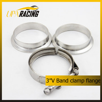 Universal 3.0'' stainless steel V band clamp Flanges Exhaust downpipe 3 inch stainless clamp flange