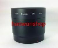 58mm 58 mm filter mount Lens Adapter Tube Ring for canon Powershot g15 G16 camera