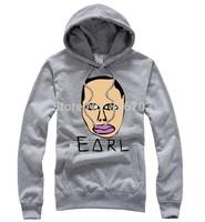 2014 New Hip Hop skateboard Cartoons hulk fleece autumn winter full zipper man men male odd future golf wang sweatshirt hoodie