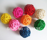 Wedding decorative rattan ball,Christmas Home ornament diameter 6cm 23pcs/lot Mix color--Free shipping