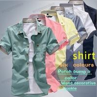 Hot Sale!New Style Men's Luxury Casual Slim Fit Solid Color Dress Shirts M,L,XL,XXL,XXXL Free Shipping 1pcs/lot
