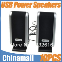 Wholesale 10pcs/lot 120W USB Power 3.5 mm High Quality Sound Mini Speaker with Ear Jack for PC Taplap Computer EMS DHL