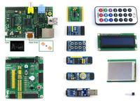 Raspberry Pi Model B 512MB RAM+10 Accessory Modules+LCD+DVK511+SPI+8IO+UART+Case H+Heat Sink Raspberry-pi Development Board Kit