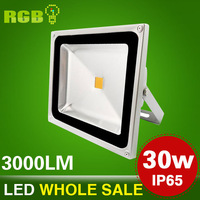 Holiday sale led flood light 10W , 20W , 30W , 50W RGB+ Remote Control floodlight outdoor lighting,Three years warrenty