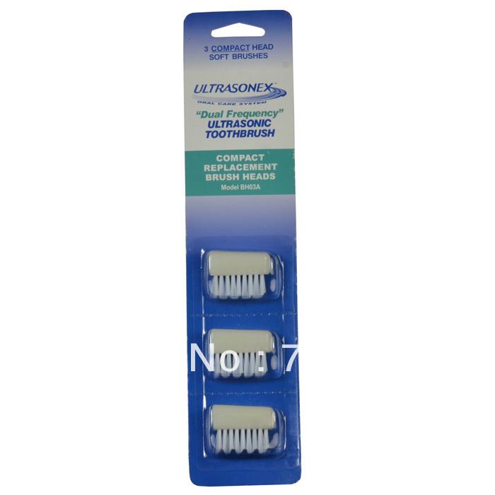 3pcs/Lot Ultrasonex BH03A Ultrasonex Toothbrush Brush Heads SU700 SU800(China (Mainland))