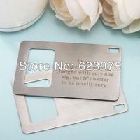 Personalized Debit Card Design Portable Bottle Opener (Set of 4)