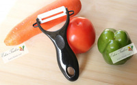 Chef Kitchen Cutlery White Advanced Ceramic patato Peeler Apple Fruit Vegetables Ultra Sharp
