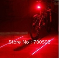 Bike Laser Tail Light  (5LED+2Laser) Cycling Safety Bicycle Alam Rear Lamp Water Resistant 7 Modes Mountain Bike Light