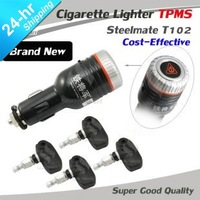 Cost-effective Brand new Steelmate cigarette lighter TPMS Tire pressure monitoring system with internal sensor (T 102/t102)