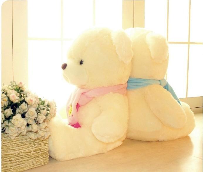 Birthday Valentines Gift Scarf Baby Bear Wedding Plush Toy High Quality Teddy Bear Doll 2 Colors Size 30cm(China (Mainland))